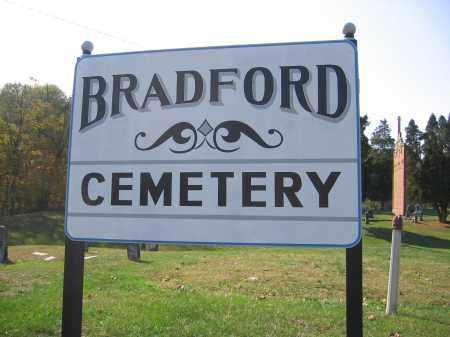 BRADFORD, CEMETERYSIGN - Meigs County, Ohio   CEMETERYSIGN BRADFORD - Ohio Gravestone Photos