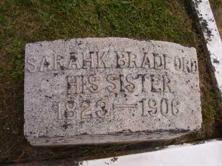 BRADFORD, SARAHK - Meigs County, Ohio | SARAHK BRADFORD - Ohio Gravestone Photos