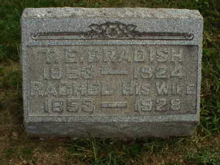 BRADISH, T. E. - Meigs County, Ohio | T. E. BRADISH - Ohio Gravestone Photos
