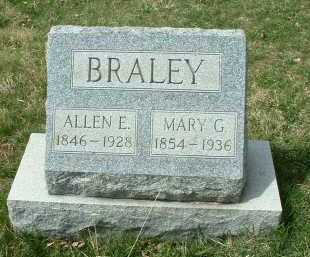 BRALEY, ALLEN E. - Meigs County, Ohio | ALLEN E. BRALEY - Ohio Gravestone Photos