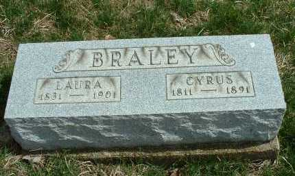 BRALEY, LAURA A. - Meigs County, Ohio | LAURA A. BRALEY - Ohio Gravestone Photos