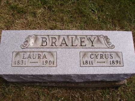 BRALEY, LAURA - Meigs County, Ohio | LAURA BRALEY - Ohio Gravestone Photos