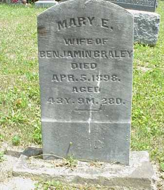 BRALEY, MARY E. - Meigs County, Ohio | MARY E. BRALEY - Ohio Gravestone Photos