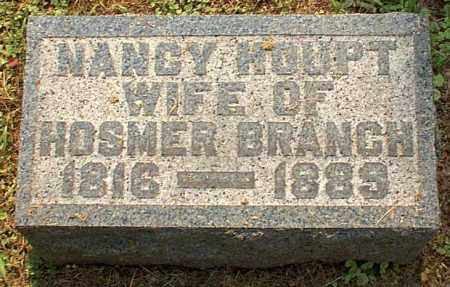 HOUPT BRANCH, NANCY - Meigs County, Ohio | NANCY HOUPT BRANCH - Ohio Gravestone Photos