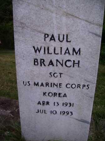 BRANCH, PAUL WILLIAM - Meigs County, Ohio | PAUL WILLIAM BRANCH - Ohio Gravestone Photos