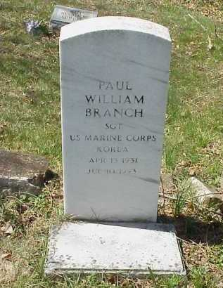 BRANCH, PAUL WILLIAM - Meigs County, Ohio | PAUL WILLIAM BRANCH - Ohio Gravestone Photos