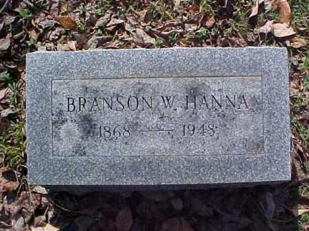 HANNA, BRANSON W. - Meigs County, Ohio | BRANSON W. HANNA - Ohio Gravestone Photos