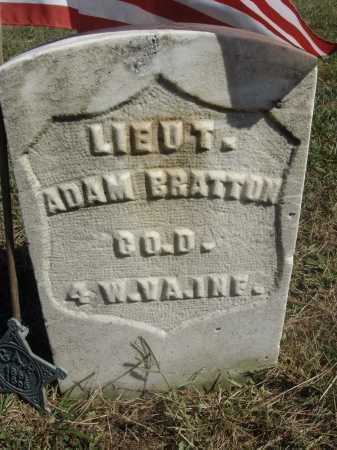 BRATTON, ADAM - Meigs County, Ohio | ADAM BRATTON - Ohio Gravestone Photos