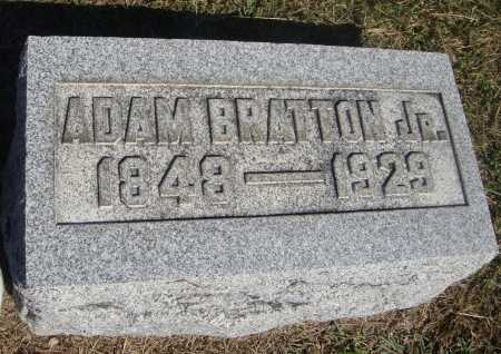BRATTON, ADAM, JR - Meigs County, Ohio | ADAM, JR BRATTON - Ohio Gravestone Photos