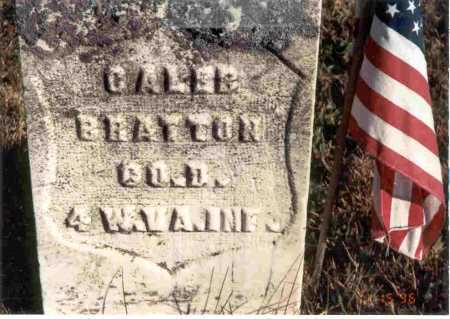 BRATTON, CALEB - Meigs County, Ohio | CALEB BRATTON - Ohio Gravestone Photos