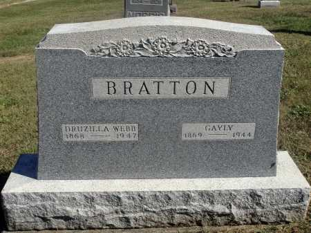 WEBB BRATTON, DRUZILLA - Meigs County, Ohio | DRUZILLA WEBB BRATTON - Ohio Gravestone Photos