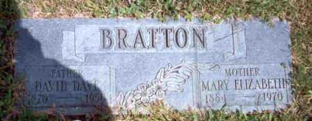 BRATTON, DAVID DAVE - Meigs County, Ohio | DAVID DAVE BRATTON - Ohio Gravestone Photos