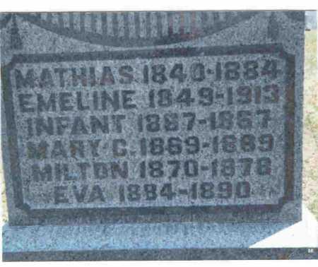 BRATTON, EVA - Meigs County, Ohio   EVA BRATTON - Ohio Gravestone Photos