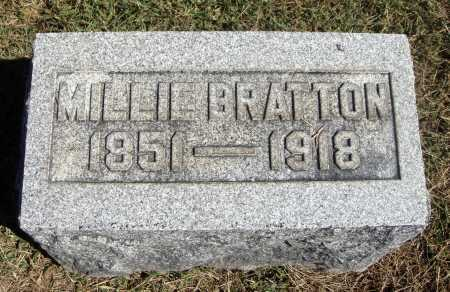 BRATTON, MILLIE - Meigs County, Ohio | MILLIE BRATTON - Ohio Gravestone Photos