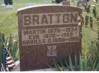 BRATTON, MARTIN - Meigs County, Ohio | MARTIN BRATTON - Ohio Gravestone Photos