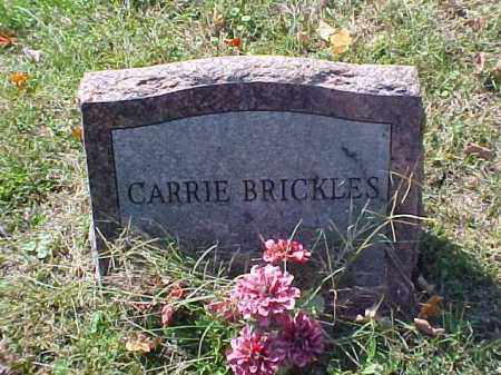 BRICKLES, CARRIE - Meigs County, Ohio | CARRIE BRICKLES - Ohio Gravestone Photos