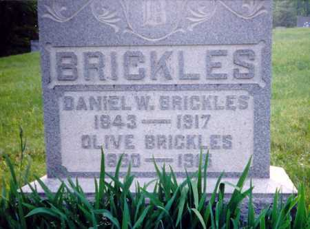 BRICKLES, DANIEL W. - Meigs County, Ohio | DANIEL W. BRICKLES - Ohio Gravestone Photos