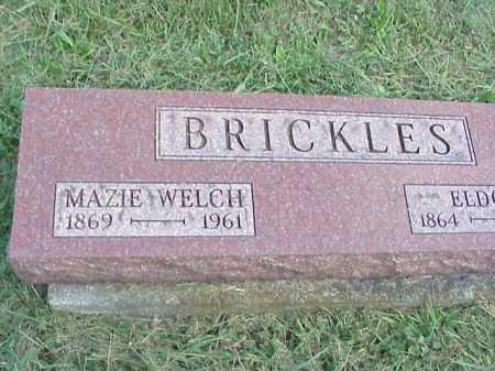 WELCH BRICKLES, MAZIE - Meigs County, Ohio | MAZIE WELCH BRICKLES - Ohio Gravestone Photos