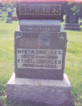 BRICKLES, MYRTA - Meigs County, Ohio | MYRTA BRICKLES - Ohio Gravestone Photos