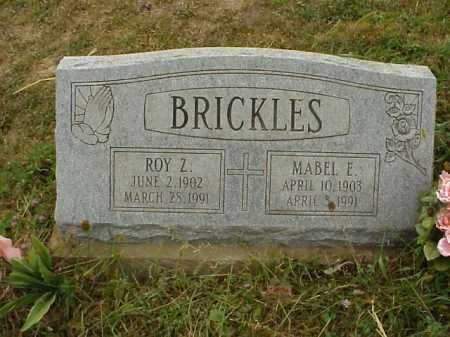 CARL BRICKLES, MABEL E. - Meigs County, Ohio | MABEL E. CARL BRICKLES - Ohio Gravestone Photos