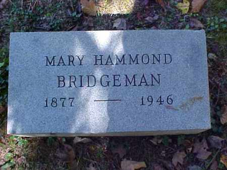 HAMMOND BRIDGEMAN, MARY - Meigs County, Ohio | MARY HAMMOND BRIDGEMAN - Ohio Gravestone Photos