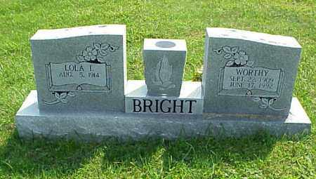 BRIGHT, WORTHY - Meigs County, Ohio | WORTHY BRIGHT - Ohio Gravestone Photos