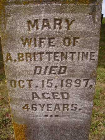 BRITTENTINE, MARY - Meigs County, Ohio | MARY BRITTENTINE - Ohio Gravestone Photos