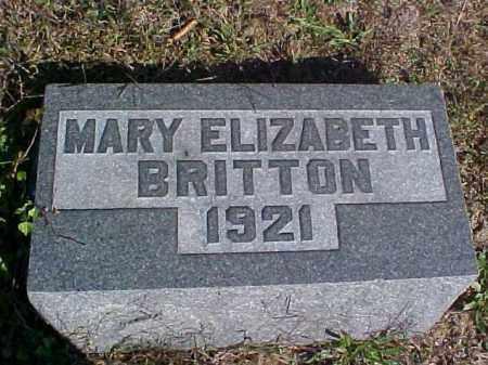 BRITTON, MARY ELIZABETH - Meigs County, Ohio | MARY ELIZABETH BRITTON - Ohio Gravestone Photos