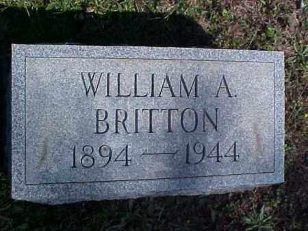 BRITTON, WILLIAM A. - Meigs County, Ohio | WILLIAM A. BRITTON - Ohio Gravestone Photos