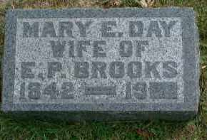 DAY BROOKS, MARY E - Meigs County, Ohio | MARY E DAY BROOKS - Ohio Gravestone Photos
