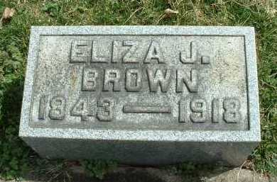 BROWN, ELIZA J. - Meigs County, Ohio | ELIZA J. BROWN - Ohio Gravestone Photos