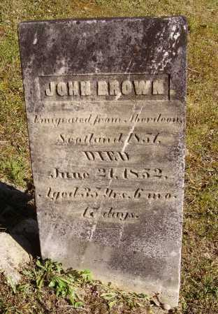 BROWN, JOHN - Meigs County, Ohio | JOHN BROWN - Ohio Gravestone Photos