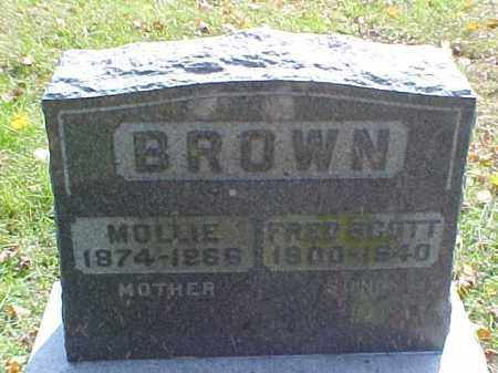 BROWN, MOLLIE - Meigs County, Ohio | MOLLIE BROWN - Ohio Gravestone Photos
