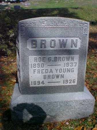 BROWN, ROE G. - Meigs County, Ohio | ROE G. BROWN - Ohio Gravestone Photos