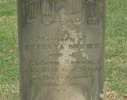 BROWN, REBECCA - Meigs County, Ohio | REBECCA BROWN - Ohio Gravestone Photos