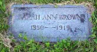 BROWN, SARAH ANN - Meigs County, Ohio | SARAH ANN BROWN - Ohio Gravestone Photos