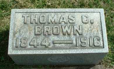 BROWN, THOMAS CONN - Meigs County, Ohio | THOMAS CONN BROWN - Ohio Gravestone Photos
