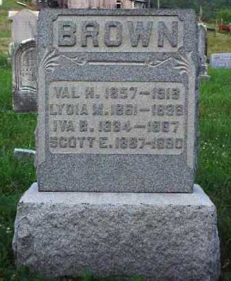 BROWN, LYDIA M. - Meigs County, Ohio | LYDIA M. BROWN - Ohio Gravestone Photos
