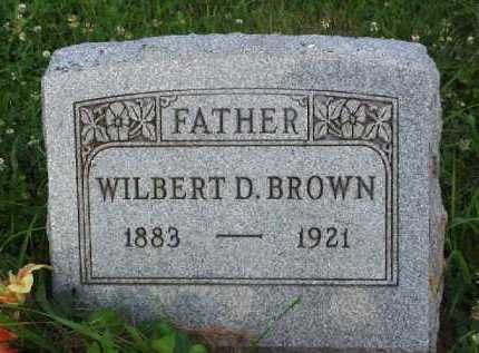 BROWN, WILBERT D. - Meigs County, Ohio | WILBERT D. BROWN - Ohio Gravestone Photos