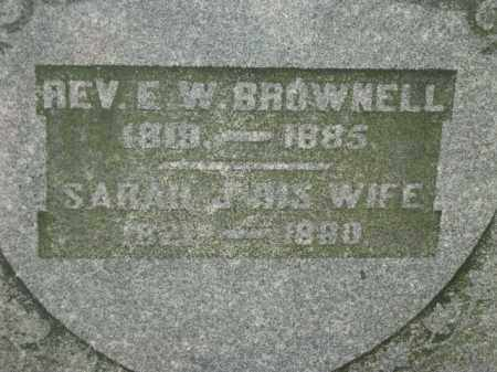 BROWNELL, REV. E W - Meigs County, Ohio | REV. E W BROWNELL - Ohio Gravestone Photos