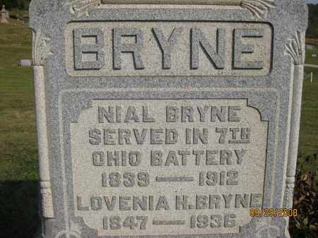 BRYNE, LOVENIA H - Meigs County, Ohio | LOVENIA H BRYNE - Ohio Gravestone Photos