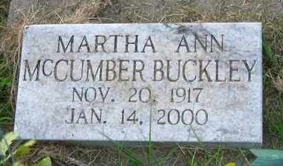 BUCKLEY, MARTHA ANN - Meigs County, Ohio | MARTHA ANN BUCKLEY - Ohio Gravestone Photos