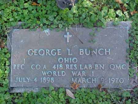 BUNCH, GEORGE L. - Meigs County, Ohio | GEORGE L. BUNCH - Ohio Gravestone Photos