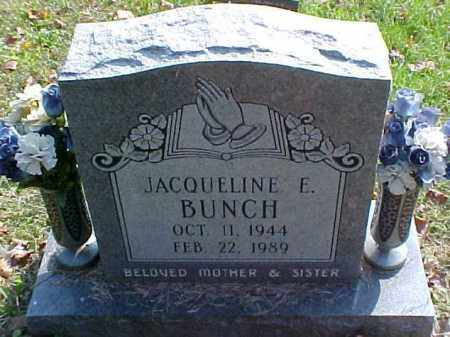 BUNCH, JACQUELINE E. - Meigs County, Ohio | JACQUELINE E. BUNCH - Ohio Gravestone Photos