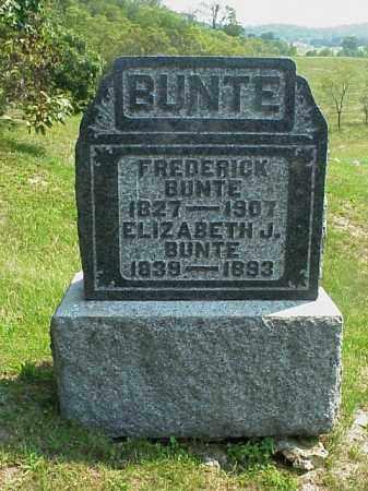 BUNTE, FREDERICK - Meigs County, Ohio | FREDERICK BUNTE - Ohio Gravestone Photos