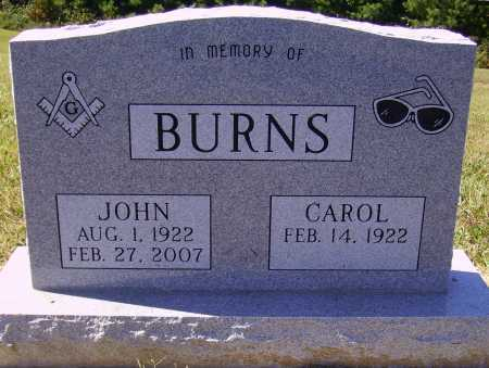 BURNS, JOHN - Meigs County, Ohio | JOHN BURNS - Ohio Gravestone Photos
