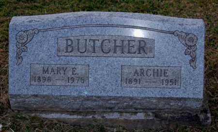 BUTCHER, MARY E. - Meigs County, Ohio | MARY E. BUTCHER - Ohio Gravestone Photos