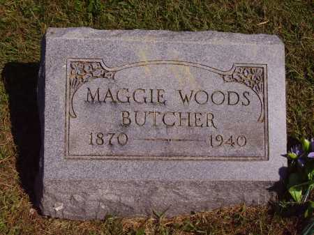 WOODS BUTCHER, MAGGIE - Meigs County, Ohio | MAGGIE WOODS BUTCHER - Ohio Gravestone Photos