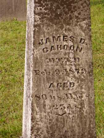 CAHOON, JAMES D. - Meigs County, Ohio | JAMES D. CAHOON - Ohio Gravestone Photos