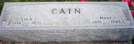 "CAIN, ELMONT ""MONT"" - Meigs County, Ohio 